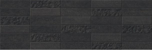 Плитка Omnia Spirit Mosaico Negro 25x75 настенная