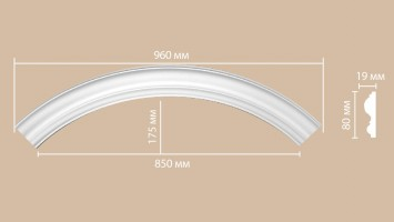 Радиус [1/4 круга] Decomaster 897617-120 (R нар. 680 | R вн. 600 мм)