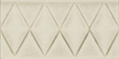 Бордюр Elios Ceramica Wine Country Diamond Flower Ivory 7.5x15