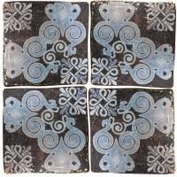 Панно Ceramiche Di Siena Venus Dec. Tabriz (комплект из 4-х шт) Dark 90x90