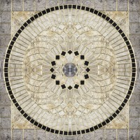 Панно Infinity Ceramic Tiles Rimini Roseton Gris (Розетон Из 4-Х Частей) 120x120