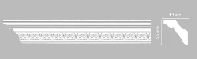 Плинтус потолочный с рисунком Decomaster-3 DT 9811A (55х49х2400 мм)