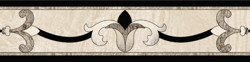 Бордюр Infinity Ceramic Tiles Ruskin Gris Cenefa 15x60