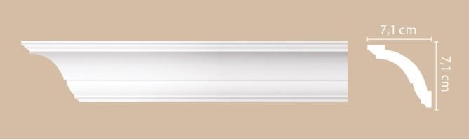 Плинтус потолочный Decomaster Артпрофиль A100 (71x71x2000 мм)