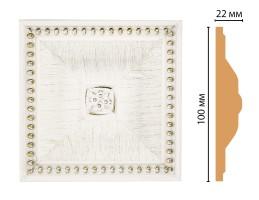 Вставка цветная Decomaster D209-7D (100x100x22 мм)