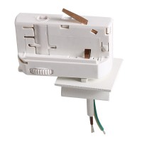 Трековое крепление Lightstar Asta с 3-фазным адаптером к 05102x/05103x белый 594026