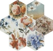 Керамогранит Bestile Toscana Flores Acuarelas mix 25.8x29