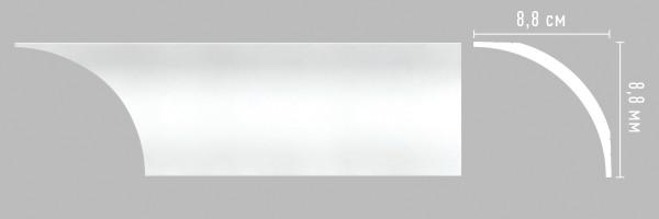 Плинтус потолочный Decomaster Артпрофиль A253 (88x88x2000 мм)