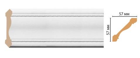 Карниз потолочный Decomaster 179-16 (57x57x2400 мм)