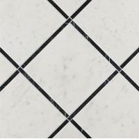 Декор Fap Ceramiche Roma Diamond Incroci Carrara Nero Reale Ins 60x60 Fnk4