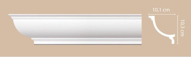 Плинтус потолочный Decomaster Артпрофиль A204 (101x103x2000 мм)