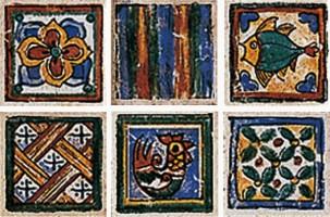 Декор Novabell Terra Di Siena Tozz. Maiolicato 6 soggetti 5x5
