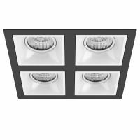 Комплект из светильников и рамки Lightstar Domino Quadro MR16 (214547+214506+214506+214506+214506) D54706060606