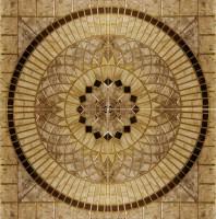 Панно Infinity Ceramic Tiles Rimini Roseton Beige (Розетон Из 4-Х Частей) 120x120