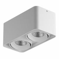 Светильник Lightstar Monocco точечный накладной декоративный со встроенными светодиодами белый 052326