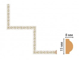 Декоративный угловой элемент Decomaster 130-1-40 (200x200 мм)