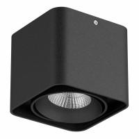Светильник Lightstar Monocco точечный накладной декоративный со встроенными светодиодами черный 052317