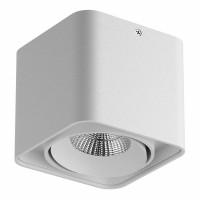 Светильник Lightstar Monocco точечный накладной декоративный со встроенными светодиодами белый 052316