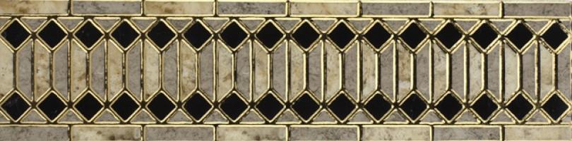 Бордюр Infinity Ceramic Tiles Rimini Listello Gris 15x60