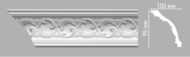 Плинтус потолочный с рисунком Decomaster-3 95103 (95х100х2400 мм)