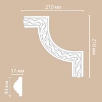 Угол Decomaster-2 DP 8050 B/100 (210х210х20 мм)