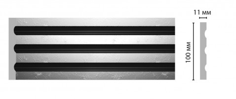 Пилястра Decomaster D201-63 ШК/20 (100x11x2400 мм)