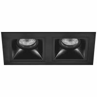 Комплект из светильников и рамки Lightstar Domino Quadro MR16 (214527+214507+214507) D5270707