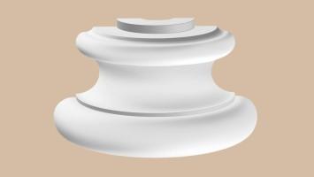 Полуоснование Decomaster 90135-4H (220x110x130 мм)