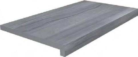 Ступень Kerama Marazzi Роверелла тип L серый 34x60x20 клеёная DL600400R20/GLF