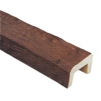 Декоративная балка Рустик (дуб темный) Decomaster 252 (200x130x3000 мм)