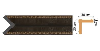 Угол Decomaster 116-1 (30x30x2400 мм)