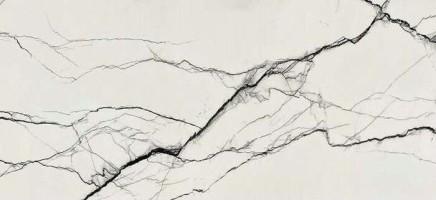 Керамогранит Floor Gres B&W Marble Breach High-Glo 6mm 60x120 Ret 765596