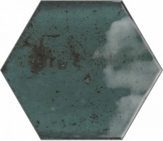 Плитка Ribesalbes Ceramica Hope Blue Hex Glossy 15x17.3 настенная PT03128