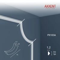 Угловой элемент молдинга Orac Decor Axxent PX103A (3.5х1.3х19 см)