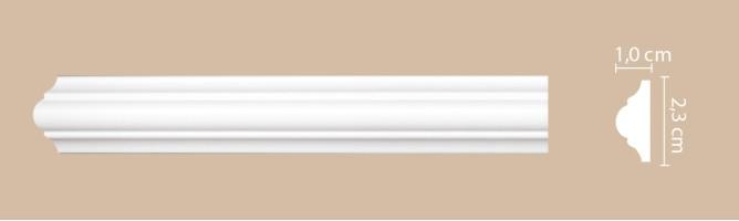 Молдинг Decomaster A001/180 (23x10x2000 мм)
