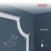 Угловой элемент молдинга Orac Decor Axxent PX120A (5.7х19х2 см)