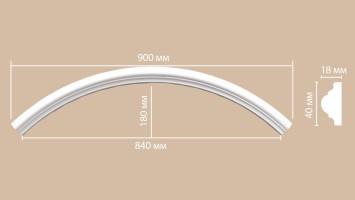 Радиус [1/4 круга] Decomaster 897010-120 (R нар. 640 | R вн. 600 мм)