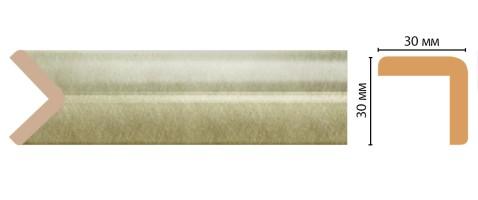 Угол Decomaster D134-373 ДМ (30x30x2400 мм)