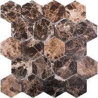 Мозаика Starmosaic Hex Hexagon Dark Emperador Polished 28.2x26