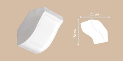 Вставка угловая Decomaster DP10-2 (78x75 мм)
