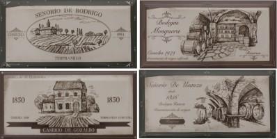 Декор Fabresa Biselado Hueso Wine Labels Mix 10x20