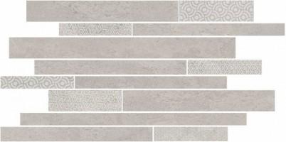 Декор Kerama Marazzi Ламелла серый светлый мозаичный 50.2x25 SBM009/SG4583