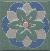 Вставка Kerama Marazzi Анвер 6 зеленый 4.85x4.85 OS/B176/21052