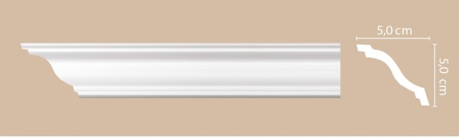 Плинтус потолочный Decomaster Артпрофиль A205 (50x50x2000 мм)