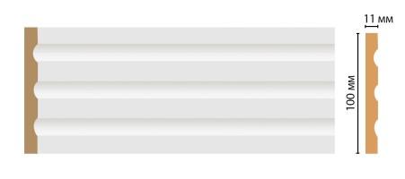 Пилястра Decomaster D201 2,4м (100x11x2400 мм)