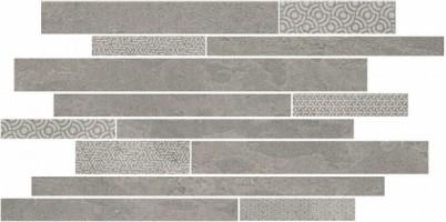 Декор Kerama Marazzi Ламелла серый мозаичный 50.2x25 SBM010/SG4584