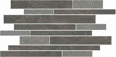 Декор Kerama Marazzi Ламелла серый темный мозаичный 50.2x25 SBM011/SG4585