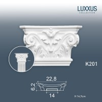 Капитель пилястры Orac Decor Luxxus K201 (23x6x15 см)