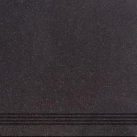 Ступень 010405000123 Техногрес черная 30x30 Шахтинская плитка