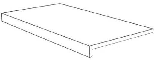 Ступень Italon Room Stone White Scalino Frontale Cer фронтальная 33x60 620070001215